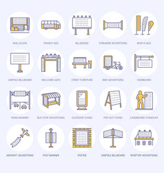 Outdoor advertising commercial and marketing flat vector