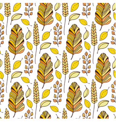 pattern with autumn leaves seasonal seamless vector image