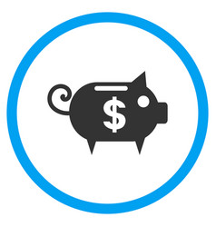 Piggy bank rounded icon vector