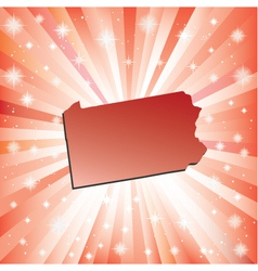 Red Pennsylvania vector image