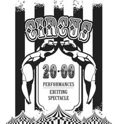 Retro poster circus vector