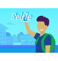 Selfie of funny guy vector image