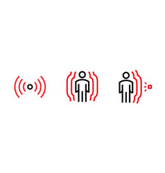 Set motion sensor concept icons editable line vector