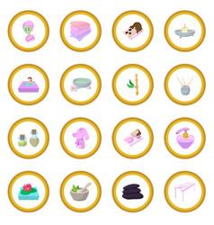 Spa cartoon icon circle vector