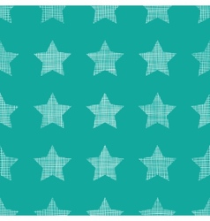 Stars textile textured green seamless pattern vector image