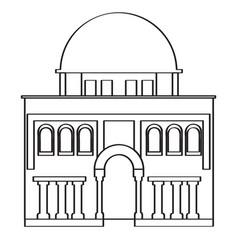 Synagogue building icon vector
