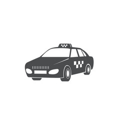 taxi car public transport symbol vector image