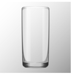 transparent glass for water juice vector image