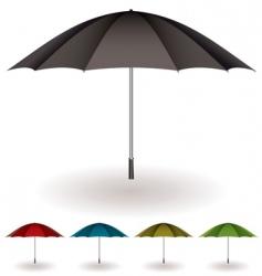 Umbrella colorful collection vector