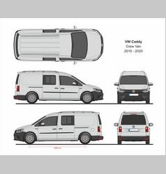 vw caddy maxi crew van 2015-present vector image