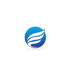 Wing fly logo vector