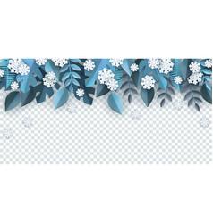 winter natural border frame vector image