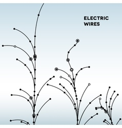 Wire grid trees made of connected dots vector image