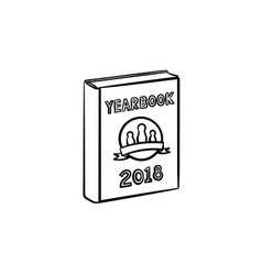 yearbook hand drawn sketch icon vector image