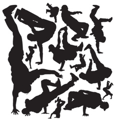 break dance vector image