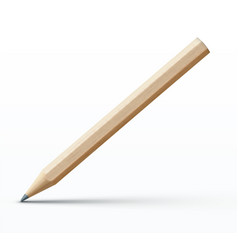 detailed wooden pencil vector image vector image