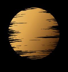 Golden moon in dark vector
