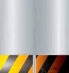 metal space door vector image