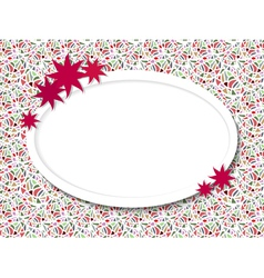 Oval frame for text with flowers vector image