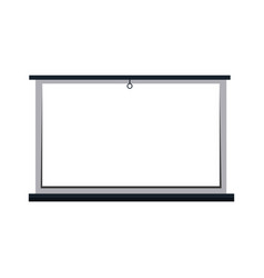 white board blank presentation equipment vector image