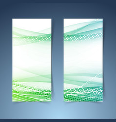 bright green vertical web banner collection vector image