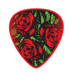 color template for design plectrum with vector image vector image