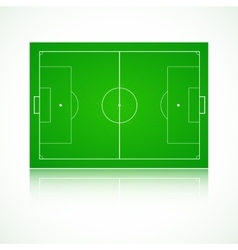 Football soccer realistic textured field vector