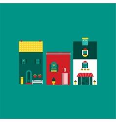 Itallian street houses vector image vector image