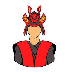 samurai icon cartoon vector image