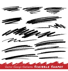 Scribble Smears Hand Drawn in Pencil vector image vector image