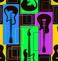 Seamless pattern of guitars vector image vector image