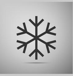 snowflake flat icon on grey background vector image