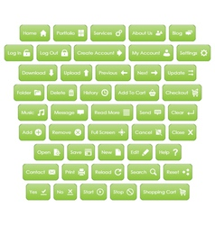 Web Buttons With Icons vector image vector image