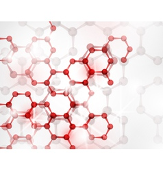 abstract molecular structure vector image vector image