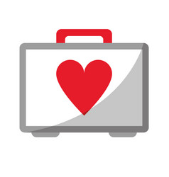 first aid kit emergency heart care vector image