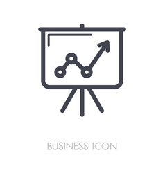 flip-chart outline icon business sign vector image vector image