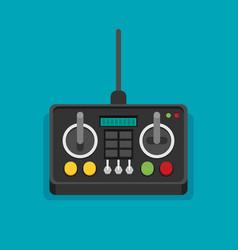 Radio remote control flat vector