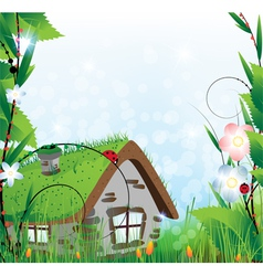 Fairy house vector image vector image