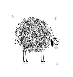 Funny sheep sketch for your design vector image vector image