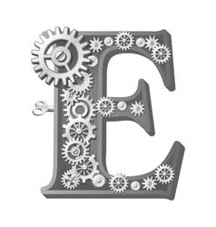 Mechanical alphabet vector image