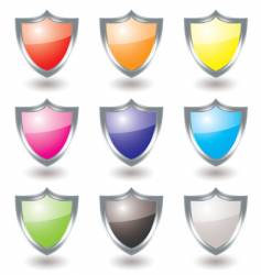silver shield variation vector image vector image