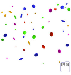 a colorful party background with confetti vector image