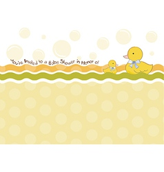 baby shower card with duck toys vector image