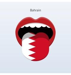 Bahrain language Abstract human tongue vector