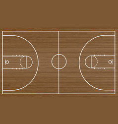 basketball court floor vector image
