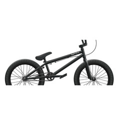 black bmx bicycle mockup - right side close-up vector image