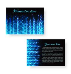 Bright invitation with neon light vector