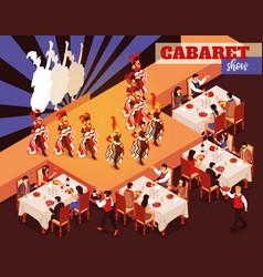cabaret show isometric background vector image