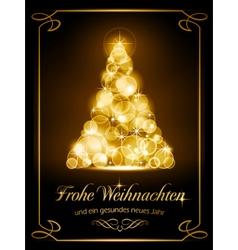 Christmas card Weihnachtskarte vector