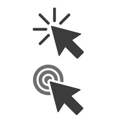 click icon on white background vector image